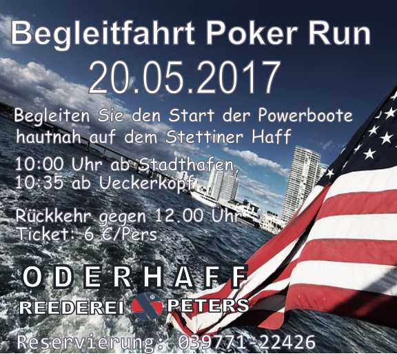 Begleitfahrt zum Poker Run
