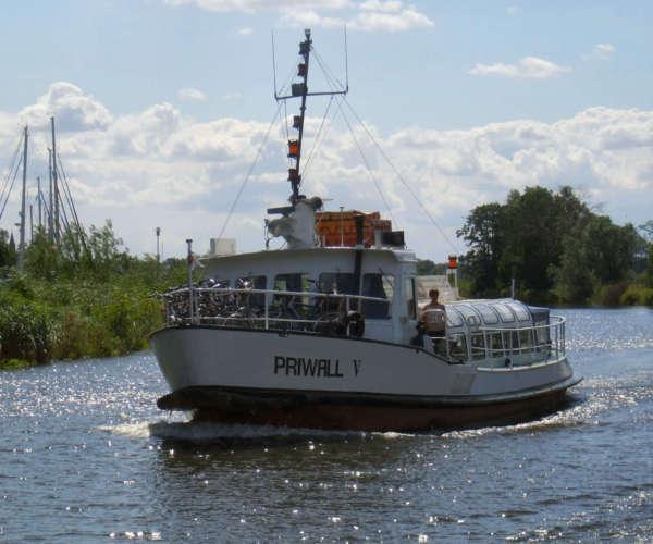 Haffrundfahrt mit der Reederei Peters aus dem Seebad Ueckermünde